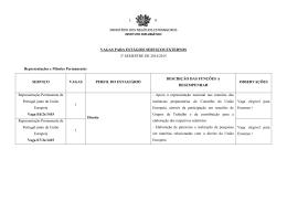 MINISTÉRIO DOS NEGÓCIOS ESTRANGEIROS VAGAS PARA