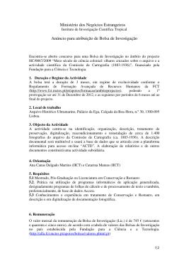Ministério dos Negócios Estrangeiros Anúncio para atribuição