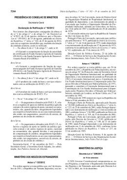 5266 PRESIDÊNCIA DO CONSELHO DE MINISTROS