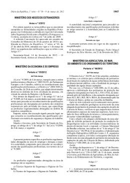 1065 MINISTÉRIO DOS NEGÓCIOS ESTRANGEIROS MINISTÉRIO