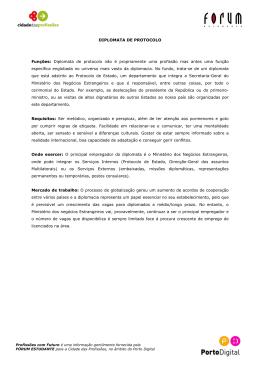 Diplomata de Protocolo - Cidade das Profissões