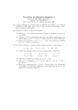 Exercícios de Mecânica Quântica I