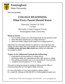 COLLEGE READINESS - Marlborough Public Schools