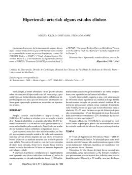Hipertensão arterial: alguns estudos clínicos