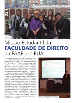 Missão Estudantil da Faculdade de Direito nos EUA