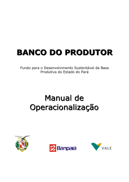 Manual de Operacionalizaçao Banco do Produtor - Mar-2015