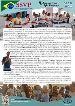 mar 2015 - Conselho Metropolitano de Goiânia da SSVP
