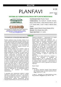 Jan/Fev/Mar - 2015 - CEBRID - Centro Brasileiro de Informações