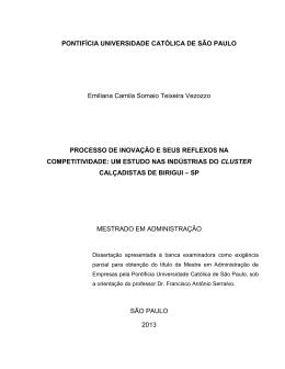PONTIFÍCIA UNIVERSIDADE CATÓLICA DE SÃO PAULO Emiliana