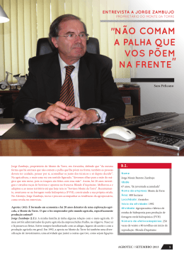 Entrevista Dr. Jorge Zambujo