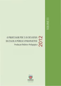 Prod Did NAIRU - Secretaria de Estado da Educação do Paraná