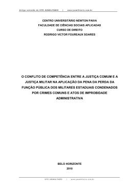 O conflito de competência entre a Justiça