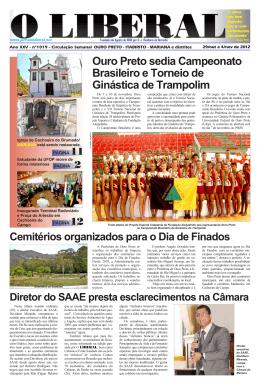 Ouro Preto sedia Campeonato Brasileiro e