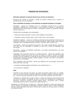 Classificação Nacional de Posição na Ocupação