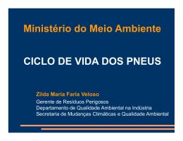 Ministério do Meio Ambiente CICLO DE VIDA DOS PNEUS