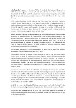 Luiza Nagib Eluf ingressou no Ministério Público do Estado de São