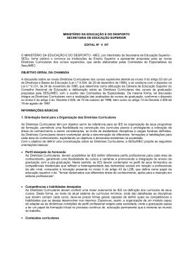 MINISTÉRIO DA EDUCAÇÃO E DO DESPORTO SECRETARIA DE