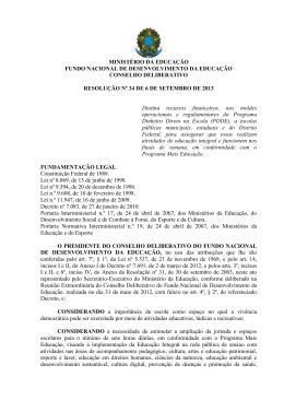 Resolução/CD/FNDE/Nº 34/2013