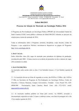 Edital-Mestrado-2015/2016 - Programa de Pós
