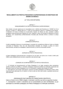 regulamento da prática pedagógica supervisionada do mestrado