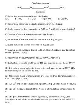 Cálculos em química 1mol_________M___________6x10