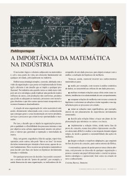 A IMPORTÂNCIA DA MATEMÁTICA NA INDÚSTRIA
