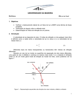 UNIVERSIDADE DA MADEIRA Biofísica