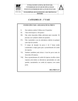 CATEGORIA B – 1ª FASE