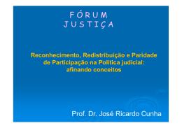 Apresentacao Prof. Jose Ricardo Cunha