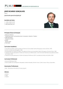 JOSÉ RICARDO GONÇALVES