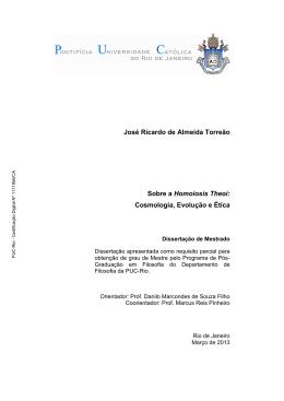 José Ricardo de Almeida Torreão Sobre a Homoiosis Theoi