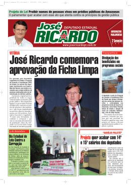 José Ricardo comemora aprovação da Ficha Limpa