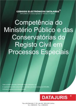 Competência do Ministério Público e das Conservatórias do Registo