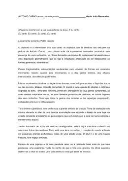 António Carmo - Crítica de Maria João Fernandes