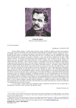 Carta do Adeus, de Nietzsche