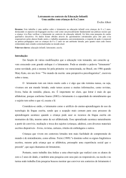 Letramento no contexto da Educação Infantil: