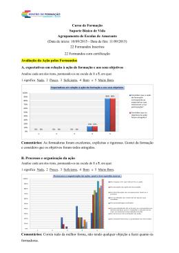 Relatório da ação Agrupamento de Amarante