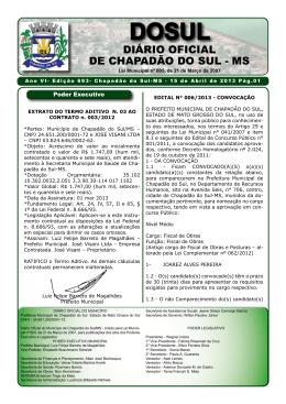 15/04/2013 baixar arquivo - Prefeitura Municipal de Chapadão do Sul