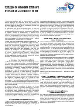 RESOLUÇÃO DO MOVIMENTO ESTUDANTIL APROVADA