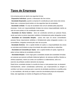 4. Classificação sobre os tipos de empresas