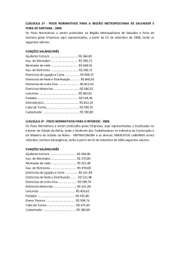serviços elétricos 2006 - SINTRACOM-BA