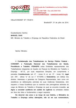 Ofício CONDSEF nº 175/2014