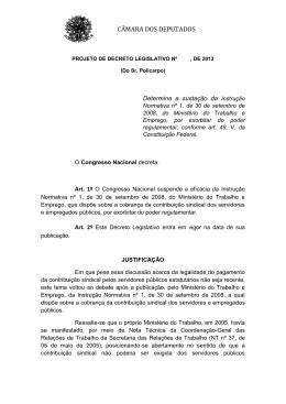 PDC 675/2012 - Câmara dos Deputados