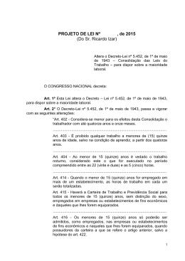 PROJETO DE LEI Nº , de 2015 (Do Sr. Ricardo Izar)