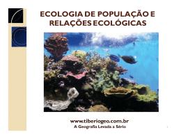 ecologia de população e relações ecológicas