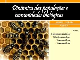 3.1 Relações ecológicas Slides da aula