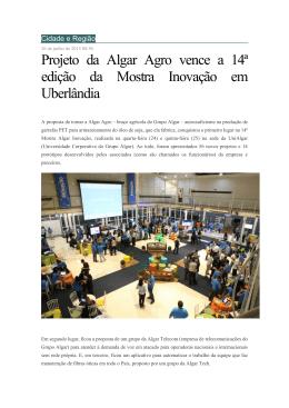 Projeto da Algar Agro vence a 14ª edição da Mostra