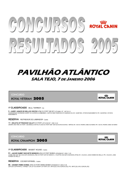 Concursos Royal Canin 2005