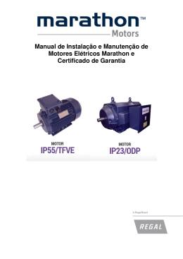 Manual de Instalação e Manutenção de Motores Elétricos Marathon