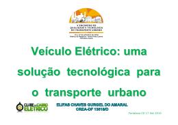Veículo Elétrico: uma solução tecnológica para o transporte urbano
